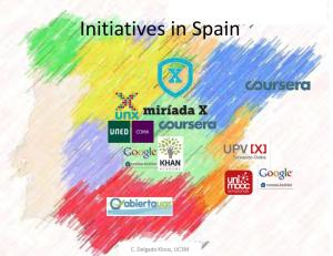 Initiatives in Spain MOOCs
