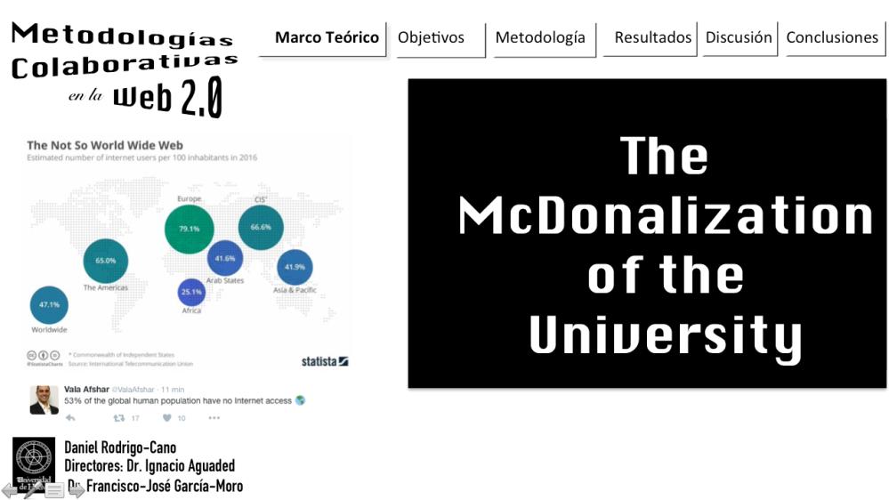 MacDonalización de la Universidad