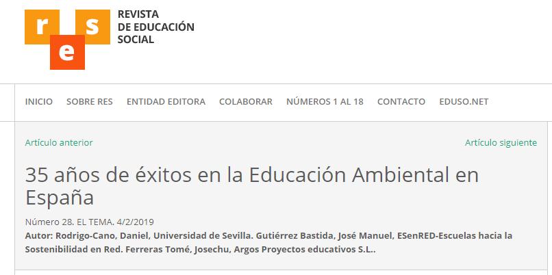 2019-03-22 13_20_20-35 años de éxitos en la Educación Ambiental en España - RES. Revista de Educació